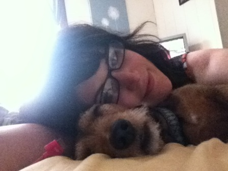 Snoozing dogs = four-legged mental therapy.